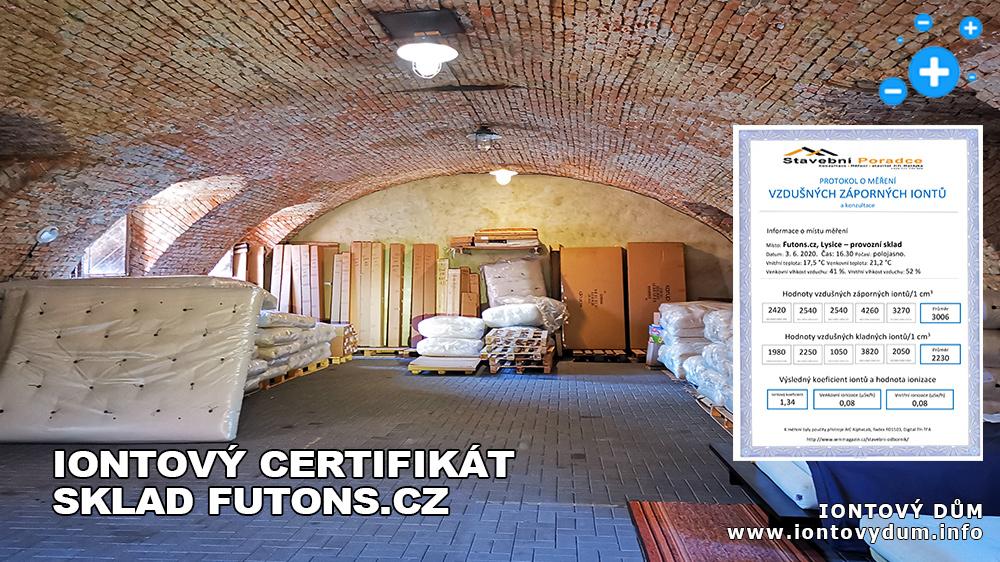 ☺Iontový certifikát – sklad Futons.cz