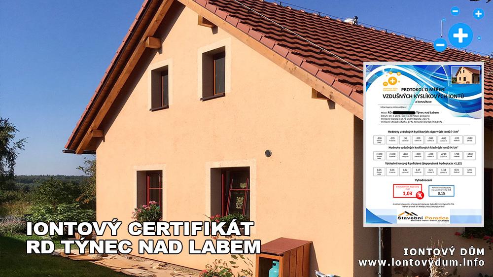 ☻Iontový certifikát – RD Týnec nad Labem